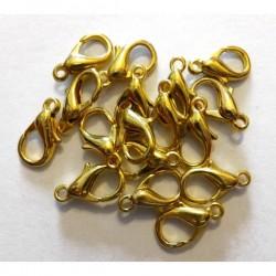 Mosquetón dorado 12 mm