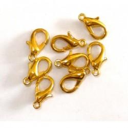 Mosquetón dorado 14 mm