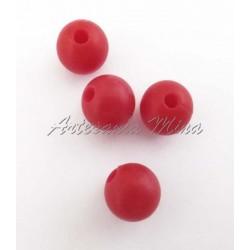 Bola de silicona 9 mm rojo...