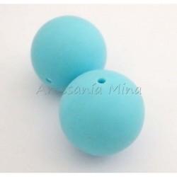 Bola de silicona 20 mm azul...
