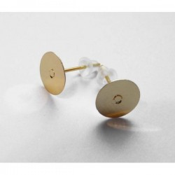 Pendientes base 8 mm dorado...
