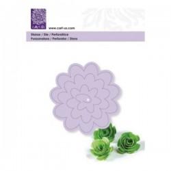 Plantilla/troquel flor Cart...