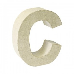 Letra de cartón C para...