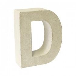Letra de cartón D para...