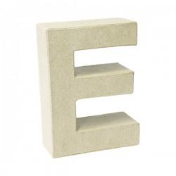 Letra de cartón E para...
