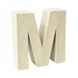Letra de cartón M para...