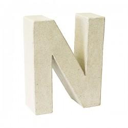 Letra de cartón N para...
