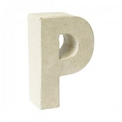 Letra de cartón P para...