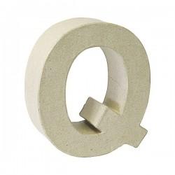 Letra de cartón Q para...