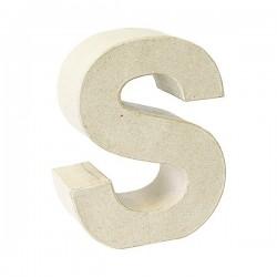 Letra de cartón S para...