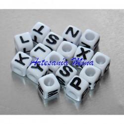 Lote cubos letras acrílico...