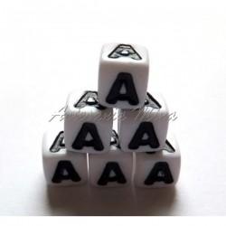 Cubo letra acrílico 7 x 7 mm A