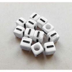 Cubo letra I acrílico 7 x 7 mm