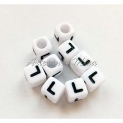 Cubo letra L acrílico 7 x 7 mm