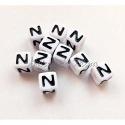 Cubo letra N acrílico 7 x 7 mm