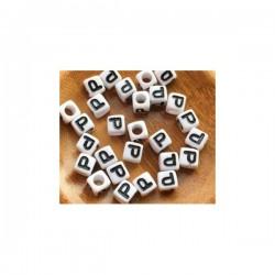 Cubo letra P acrílico 7 x 7 mm