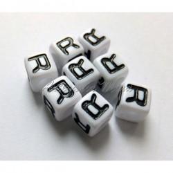 Cubo letra acrílico 7 x 7 mm R