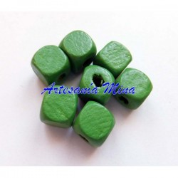 Cubo madera verde 10 x 9 mm