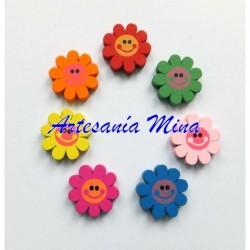 Flor cara sonriente 23 mm...