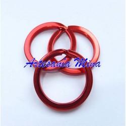 Anilla para llavero 25 mm rojo