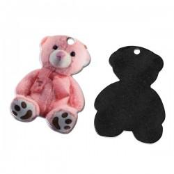 Colgante oso rosa resina 23...