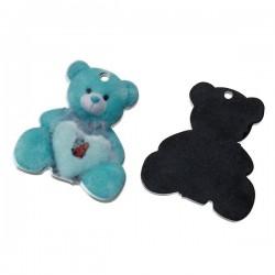 Colgante oso azul resina 23...