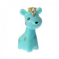 Colgante jirafa azul 3D...