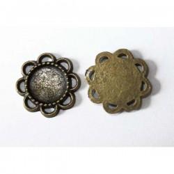 Camafeo flor mini bronce