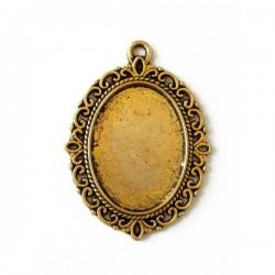 Base camafeo ovalado oro...