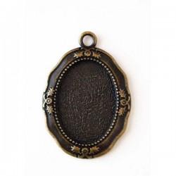 Camafeo ovalado bronce 39 x...