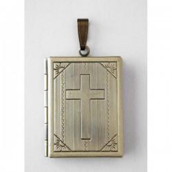 Camafeo libro cruz bronce