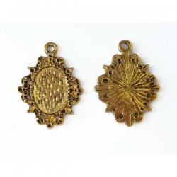 Camafeo dorado 24 x 18 mm