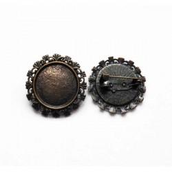 Broche camafeo bronce 30 mm