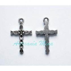 Cruz plata tibetana 25 x 15 mm