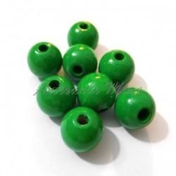 Bola madera 8 mm. verde