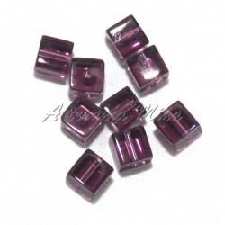 Cubo cristal 8x8 mm amatista