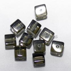 Cubo cristal 8x8 mm gris