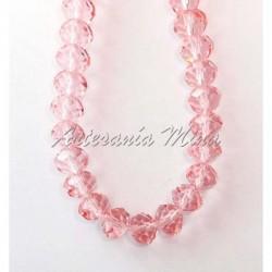 Cuenta cristal rosa 10 mm