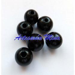 Bolas de madera 12 mm negro...