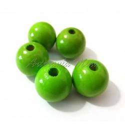 Bola de madera 15 mm verde...