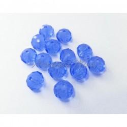 Cuenta cristal azul claro...