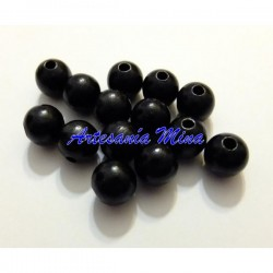 Bola madera 8 mm negra
