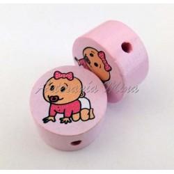 Círculo 20 mm madera rosa...