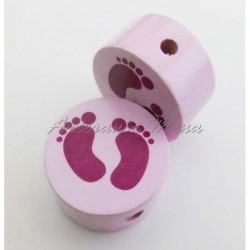 Círculo madera rosa pastel...