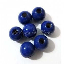Bola madera 8 mm. azul oscuro