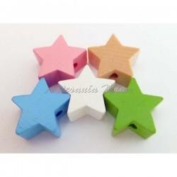Lote estrellas madera...