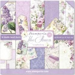 Kit 10 Papeles Scrap Lilac...