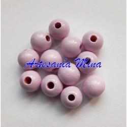 Bola de madera 8 mm rosa...