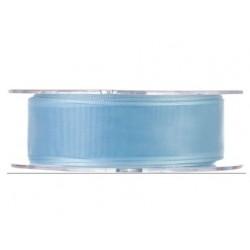 Cinta organza 25 mm azul...