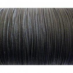 Cordón rayón negro 1,25 mm...